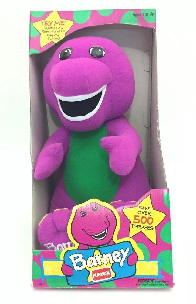 1996 Hasbro Playskool Talking Barney The Dinosaur Plush 17