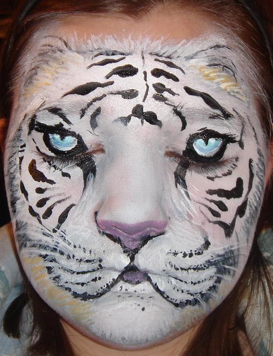 Maquillaje Tigre Blanco Maquillaje Animales Maquillaje De Tigre