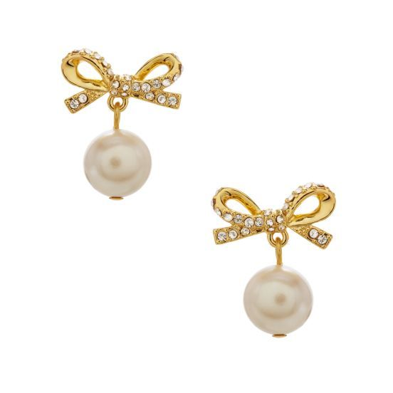 kate spade | skinny mini pearl drop earrings