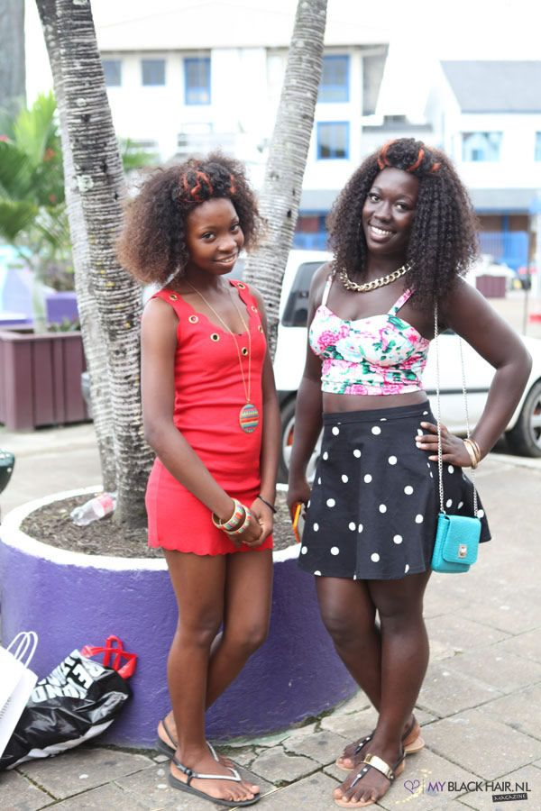 Girls On Vacation In Suriname Wearing Weave With Orange -7157