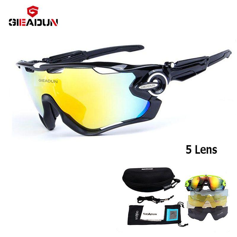 Comprar 2018 Óculos De ciclismo 5 Lente MTB da bicicleta da bicicleta do  esporte óculos de sol novos óculos de sol e óculos Polarizados pesca Ao Ar  Livre ... 691b85c6b4