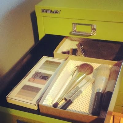 Prettier Wednesday: Bisley Cabinet Makeup Storage #bisley #bisleycabinets #storage #polishedportland #makeup