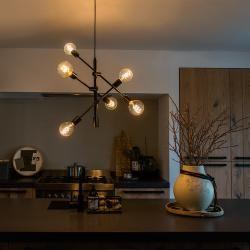 Photo of Industrie / Industrial / Vintagelle Hängelampe schwarz 6 Leuchten – Sydney Design, Modern, Industrie