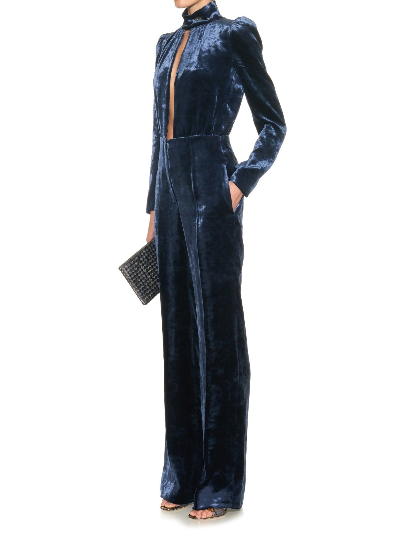 0bbbe3690780 Safety-pin velvet jumpsuit