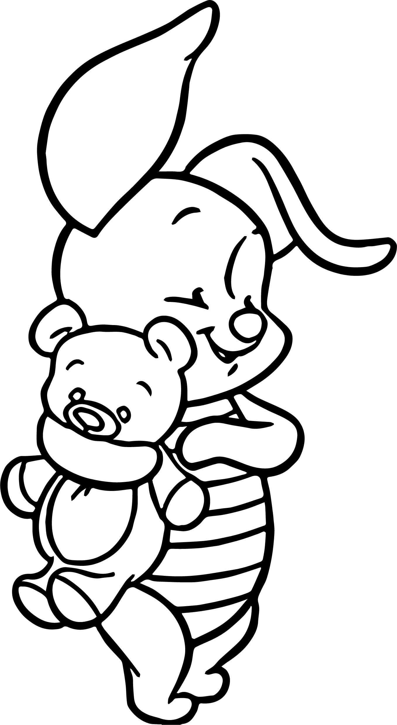 Baby Piglet Coloring Page  Baby coloring pages, Cartoon coloring