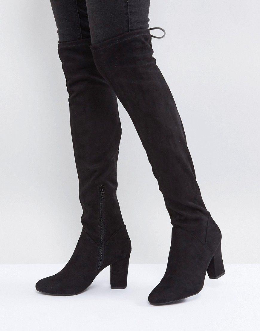 9afc05b7581 Call It Spring Culkin Over The Knee Boots - Black