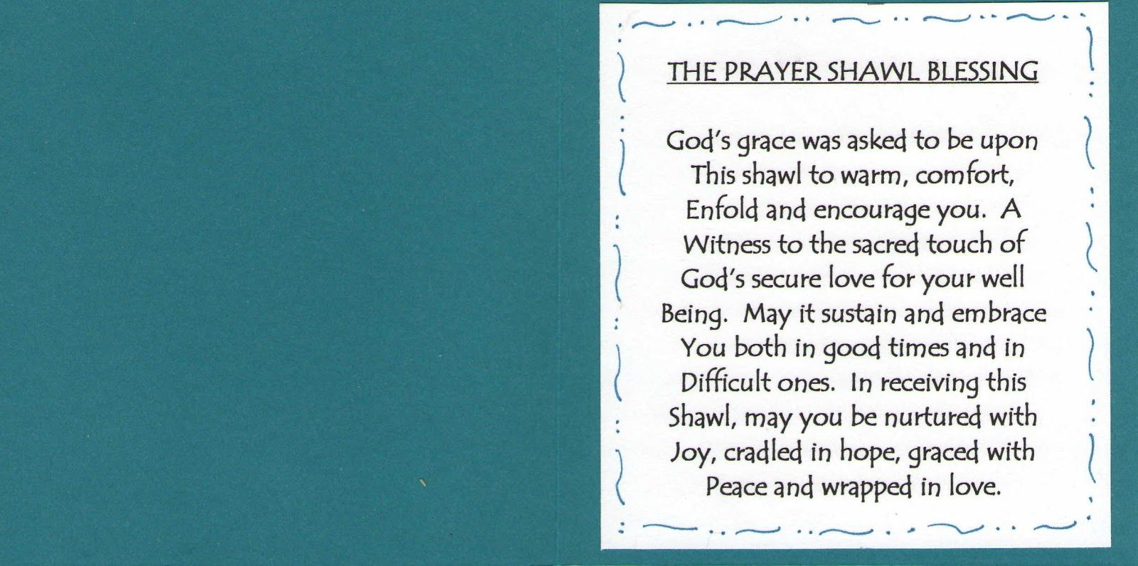 Image result for prayer shawl card