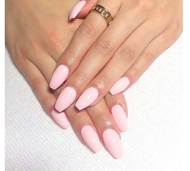 Pink Coffin Nails Blush Pink Nails Baby Pink Nails Acrylic Pale Pink Nails