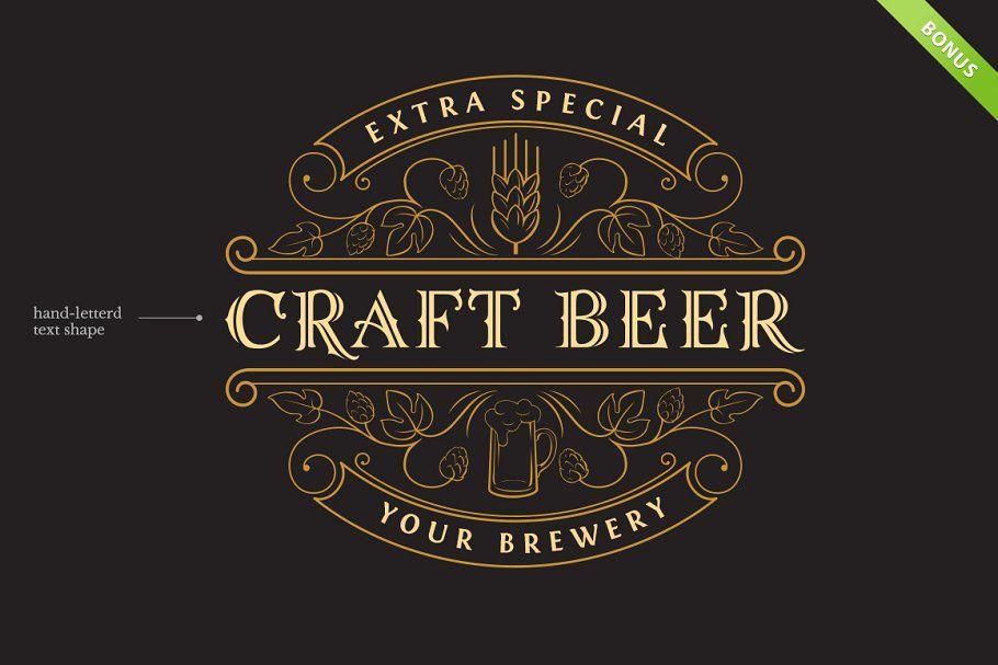 Craft Beer Vintage Logo Beer Craft Vintage Templates Beer Logo Design Beer Logo Craft Beer Logo