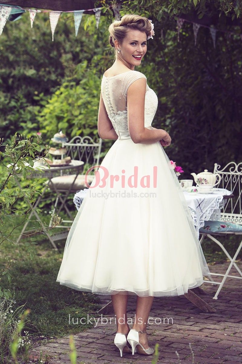 Wedding dresses fifties style  Pin by Joy Lee on wedding at Camp Pollock  Pinterest  Tea length