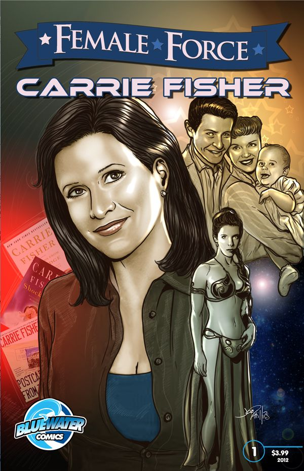 The topsy-turvy life of movie icon Carrie Fisher into full color focus as part