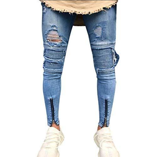 am besten bewerteten neuesten tolle Preise Top Marken GreatestPAK Pants Slim Fit Herren Enge Zipper Hosen Denim ...