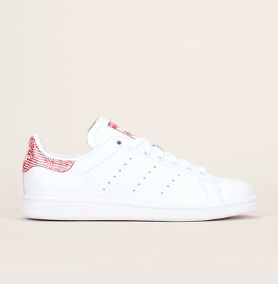 Sneakers cuir blanc talon contrasté Stan Smith Adidas Originals prix promo Baskets Femme Monshowroom 94.95 €