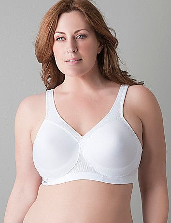 Magic Lift sport bra keeps the girls perky, no matter how much you move! Double-stitched cups keep you pointed in the right direction, and the wide band won't slip during your workout. Adjustable straps offer the perfect fit. lanebryant.com
