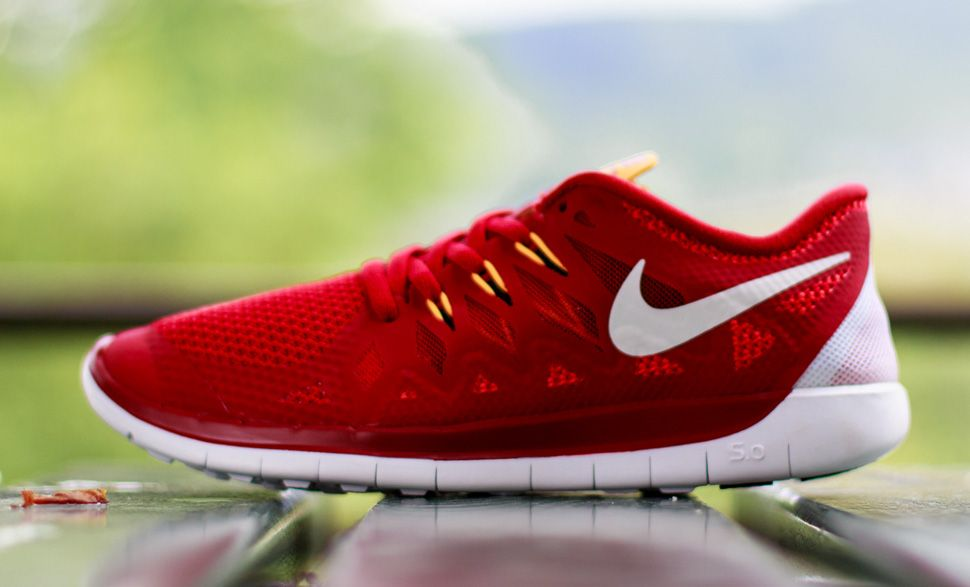 6aae891052 Nike Free 5.0 GS  Gym Red
