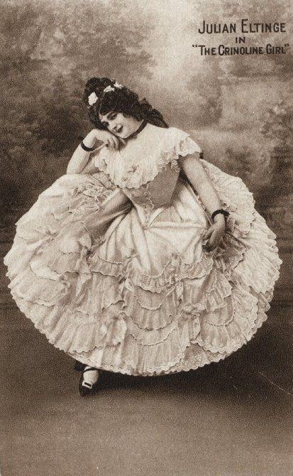 Female impersonator Julian Eltinge in 'The Crinolene Girl', 1914.