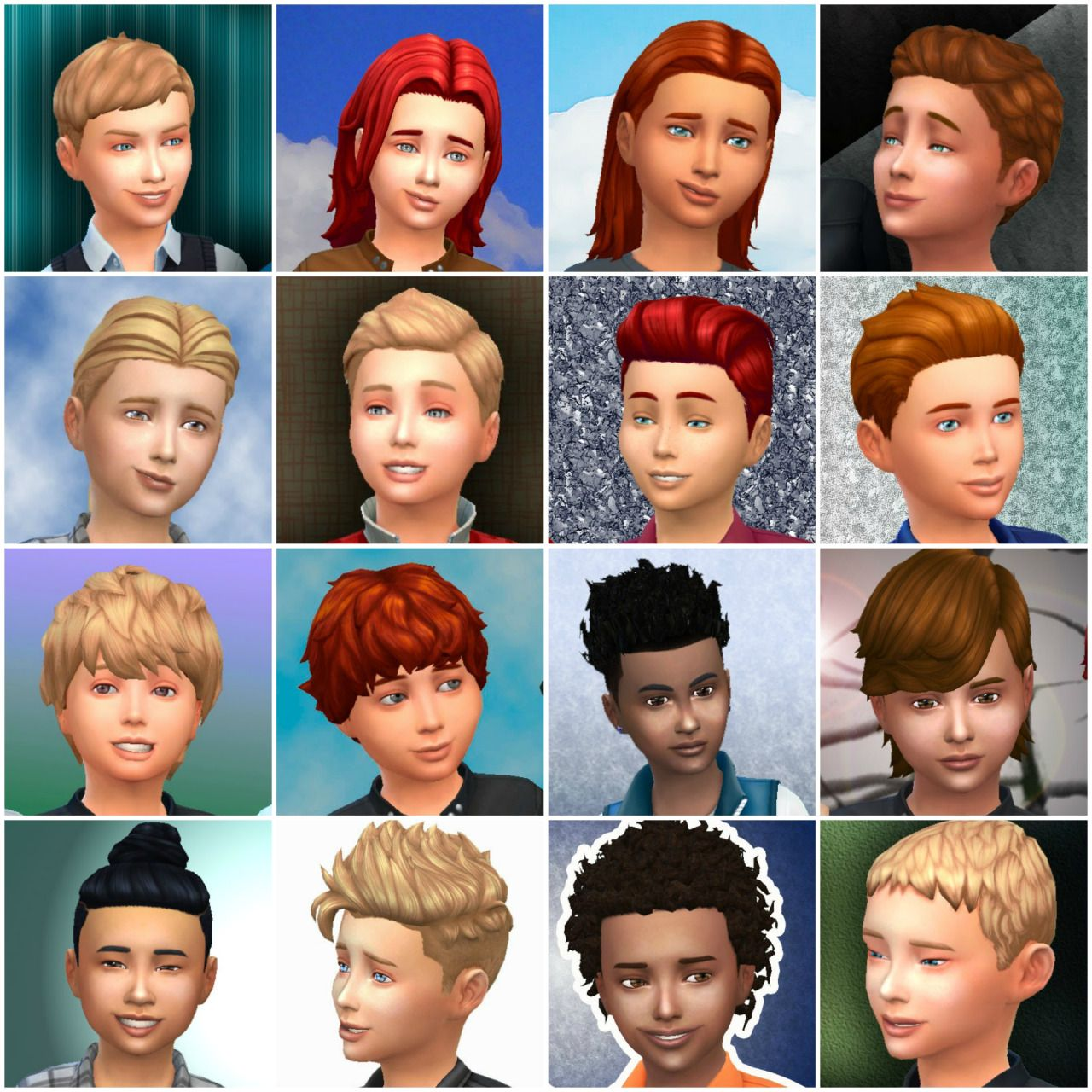 Sims 4 mods traits downloads 187 sims 4 updates 187 page 58 of 100 - Boys Hairstyles By Mystufforigin The Sims 4 Parted Flat For Boyslong Wavy Swept For Kidsmed Center Part Conversionwavy Loose For Boyspony Tail C