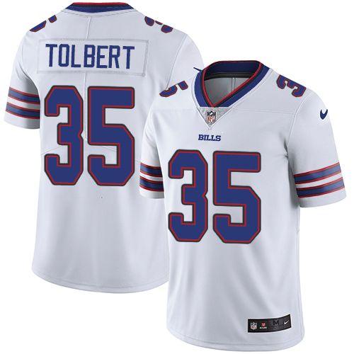 Youth Nike Buffalo Bills #35 Mike Tolbert Limited White NFL Jersey ...
