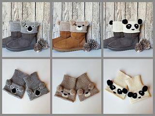 Bear Boot Toppers pattern by Alexandra Davidoff