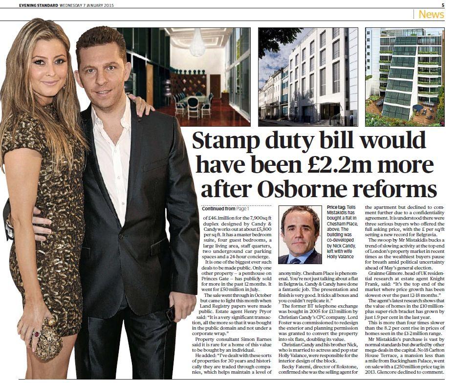 Telis Mistakidis pays £46 million for London flat  Remainder of