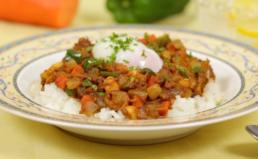 Bean Dry Curry With Ground Meat And Vegetables Recipe Japanese Style Curry Without Sauce Cooking With Dog Recipe Vegetable Recipes Curry Recipes Dry Curry Recipe