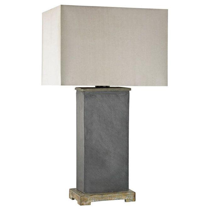 Indoor Outdoor Slate Column Table Lamp Outdoor Table Lamps Slate Table Lamp Rustic Lamp Shades
