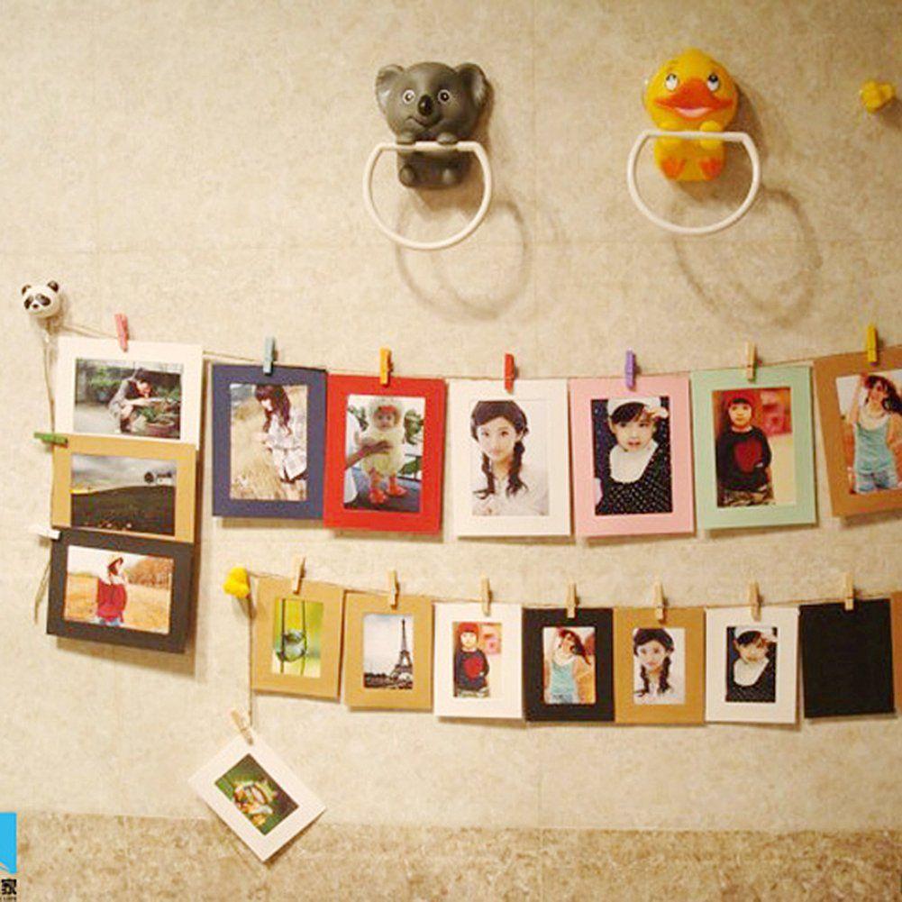 ZGY 10 Stück Kreative hängenden Bilderrahmen und dekorative Papier ...