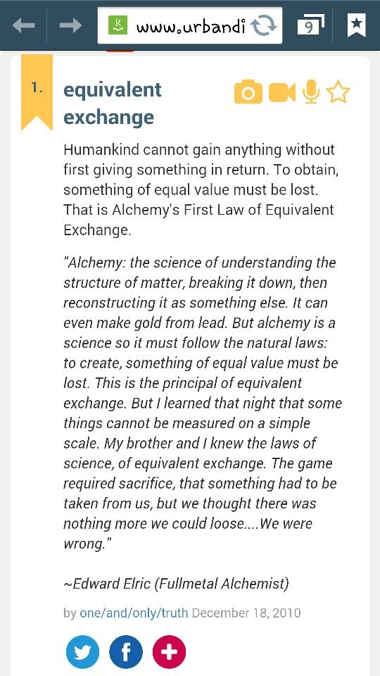 Alchemy Law Of Equivalent Exchange Quotes Understanding Structure Of Matter