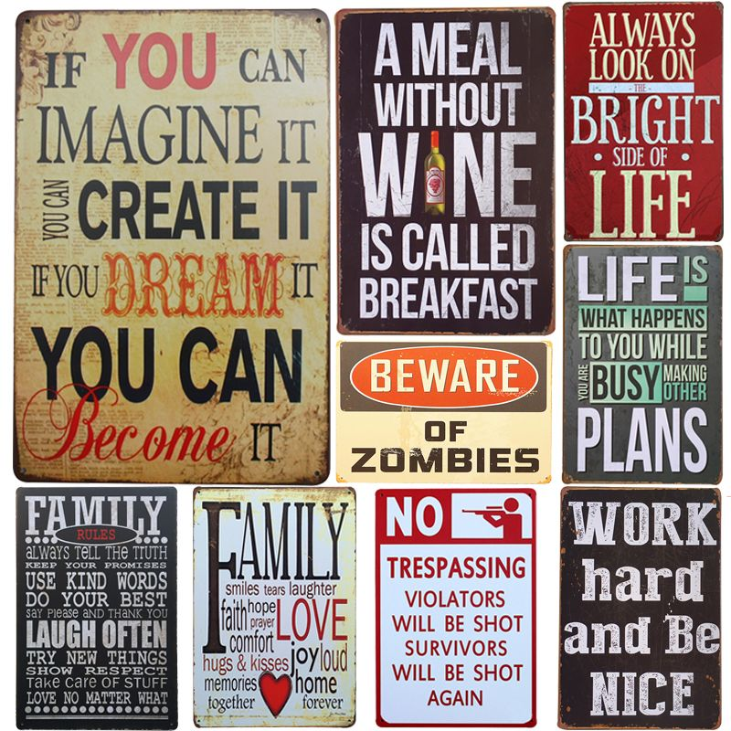 Vintage Metal Wall Decoration Signs Vintage Tin Signs Home