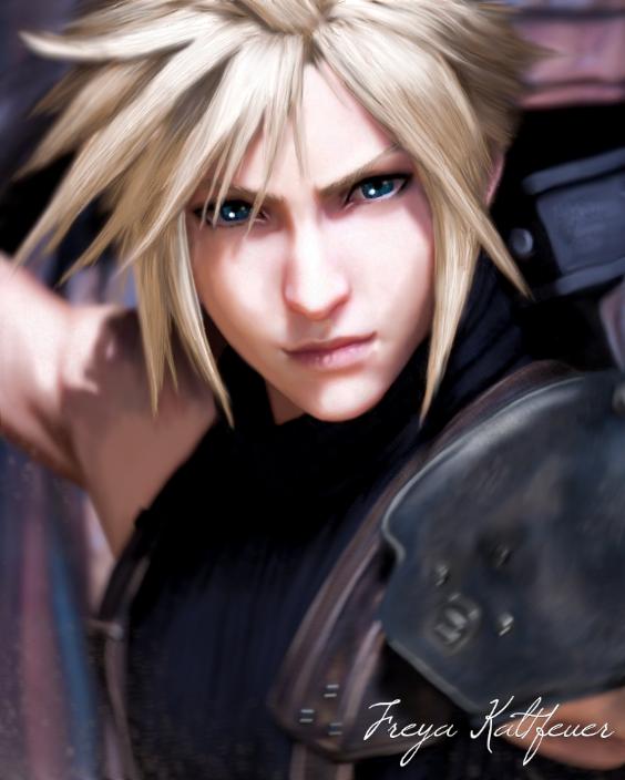 Cloud Strife Digital Painting In 2021 Final Fantasy Cloud Strife Final Fantasy Cloud Final Fantasy Characters