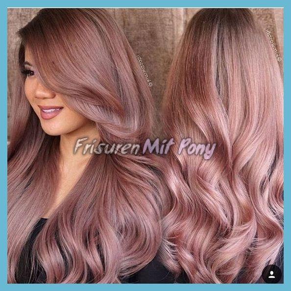 Rose Gold Haarfarbe 2018 Rose Gold Haar Farbe Haar Farben Findet