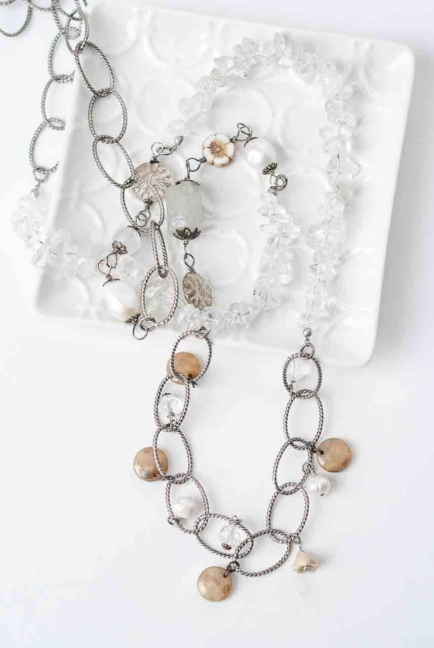 Tundra 45″ Quartz Collage Necklace