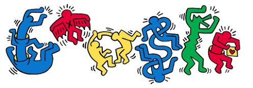 Today's homepage celebrates the pop art of Keith Haring,