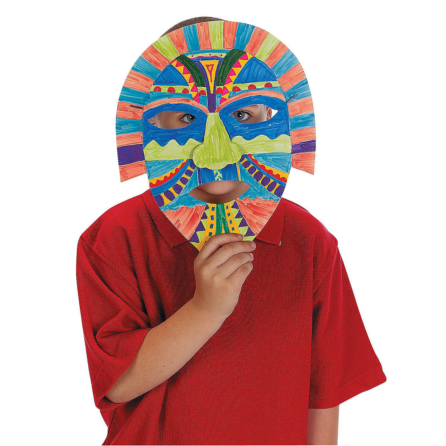 Diy Awesome Aztec Masks Orientaltrading