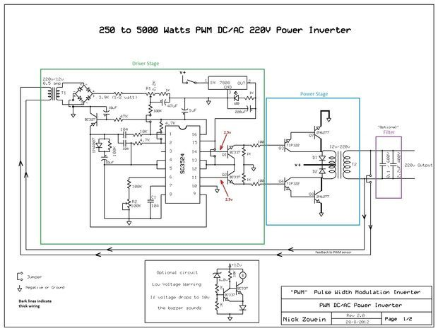 250 To 5000 Watts Pwm Dc Ac 220v Power Inverter Power Inverters Electronic Schematics Acdc