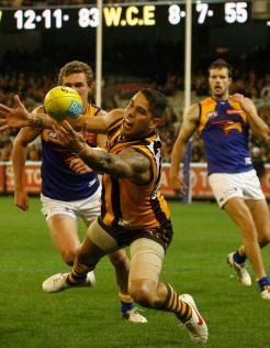 Round 23 2012 - Lance Franklin kick started the Hawks with four early goals.  Hawks beat the Eagles to seal top spot on the ladder.