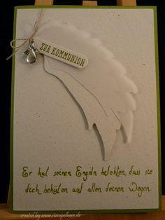 Spruch Konfirmation Karte.Karte Kommunion Stampin Stempelhexe Engel Spruch Kommunion