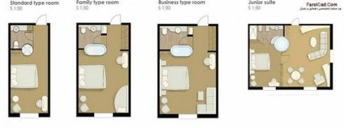 Hotel Room Plans Www Farsicad Com Small 490x182 Jpg 490 182 Small Hotel Room Hotel Room Plan Hotels Room