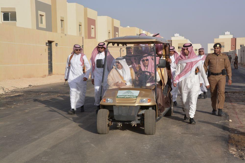 أمير الرياض يتفقد سير العمل بمشروع إسكان المجمعة Headlines News Site