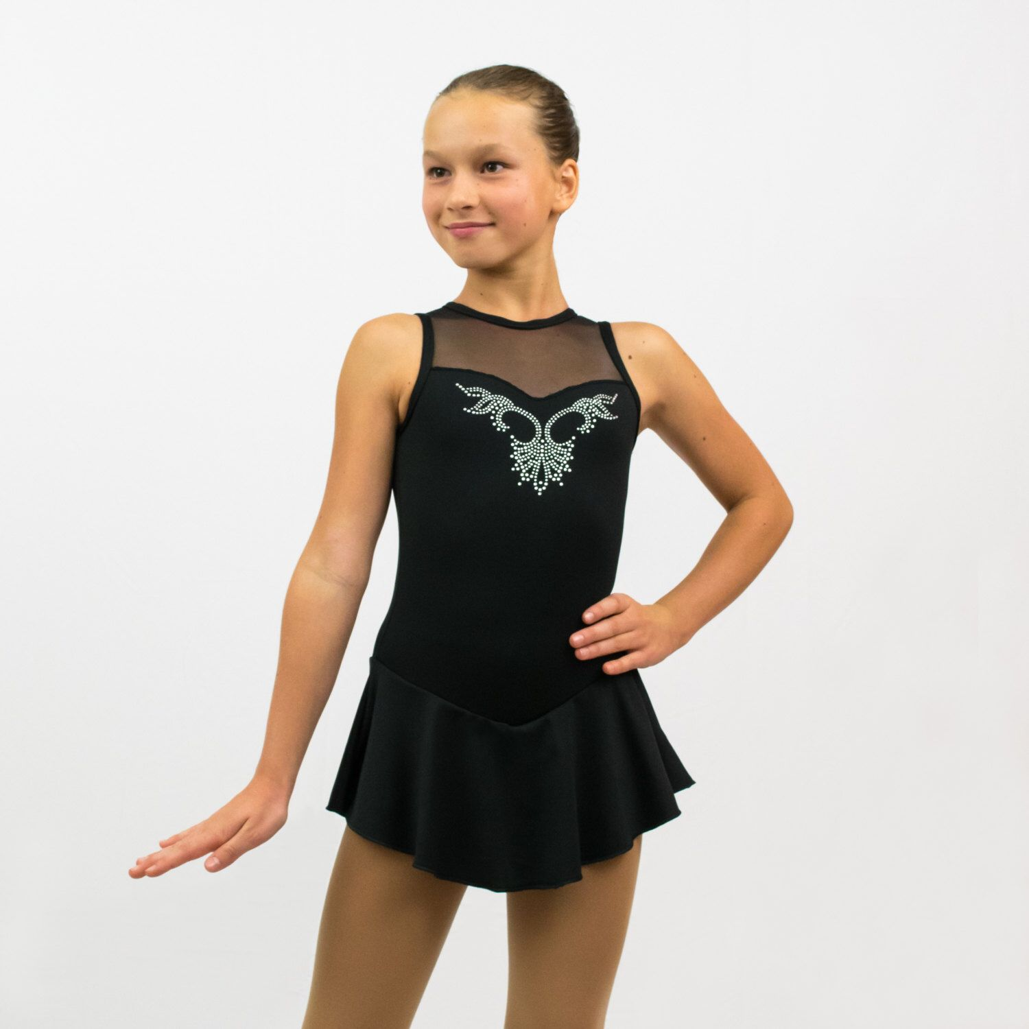 Ice Skating Figure Skating Black Dress size INTERMEDIATE CHILD(7-8 years) with crystals applique by PerformingOutfits on Etsy https://www.etsy.com/ca/listing/250679319/ice-skating-figure-skating-black-dress