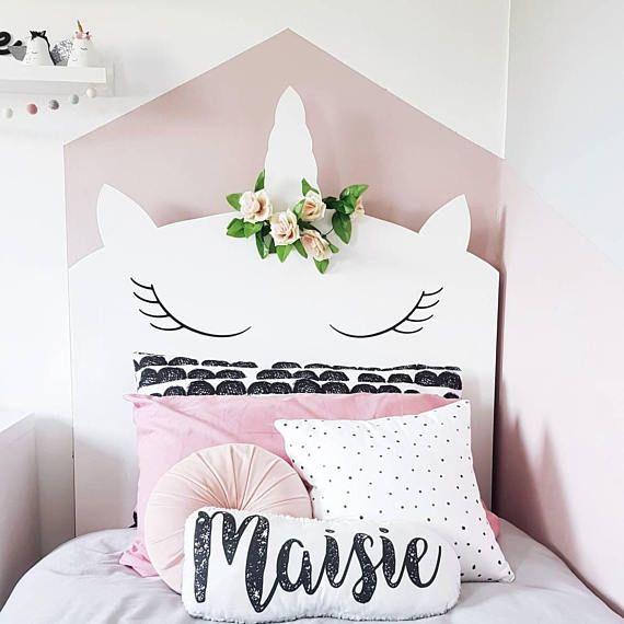 Bespoke Whimsical Unicorn Headboard Children S Bedroom Unicorn