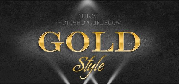 Gold Text Effect Photoshop Layer Style