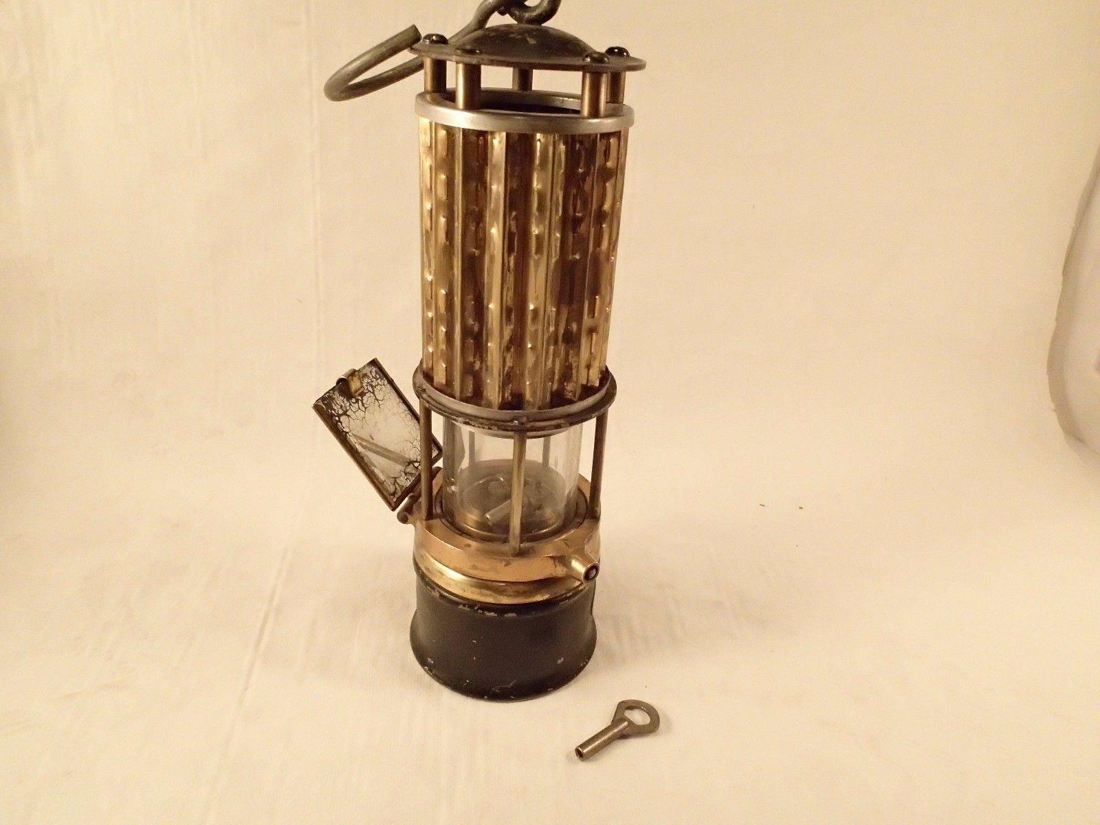Wolf Safety Lamp W Key Usa America New York Antique Miner Light