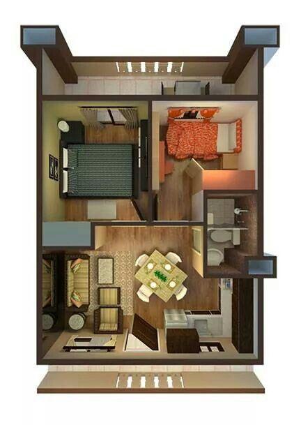Floor Plan Denah Rumah Ide Apartemen Ide Dekorasi Rumah