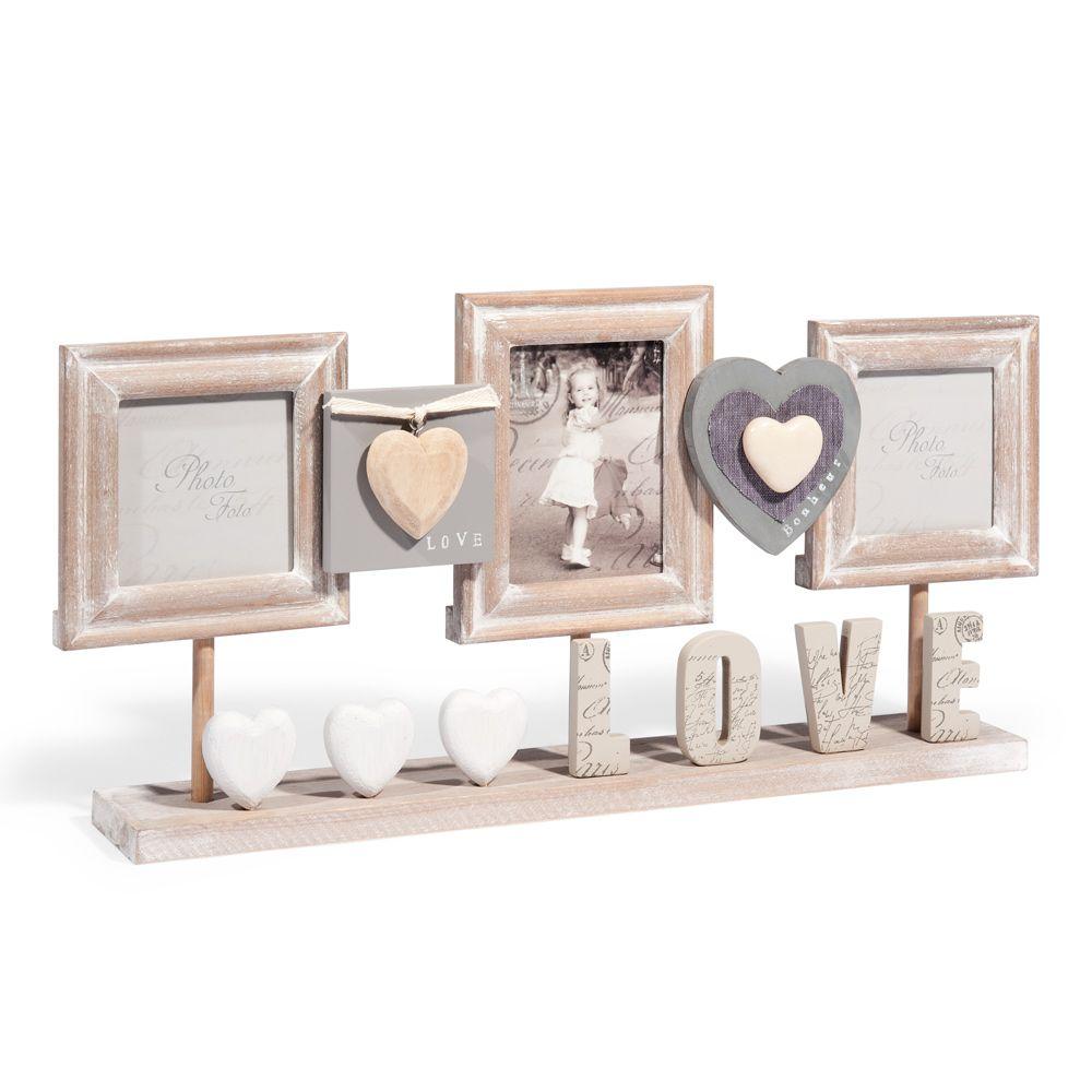 Marco de fotos de mesa de madera 23 x 50 cm | El comedor, Comedores ...