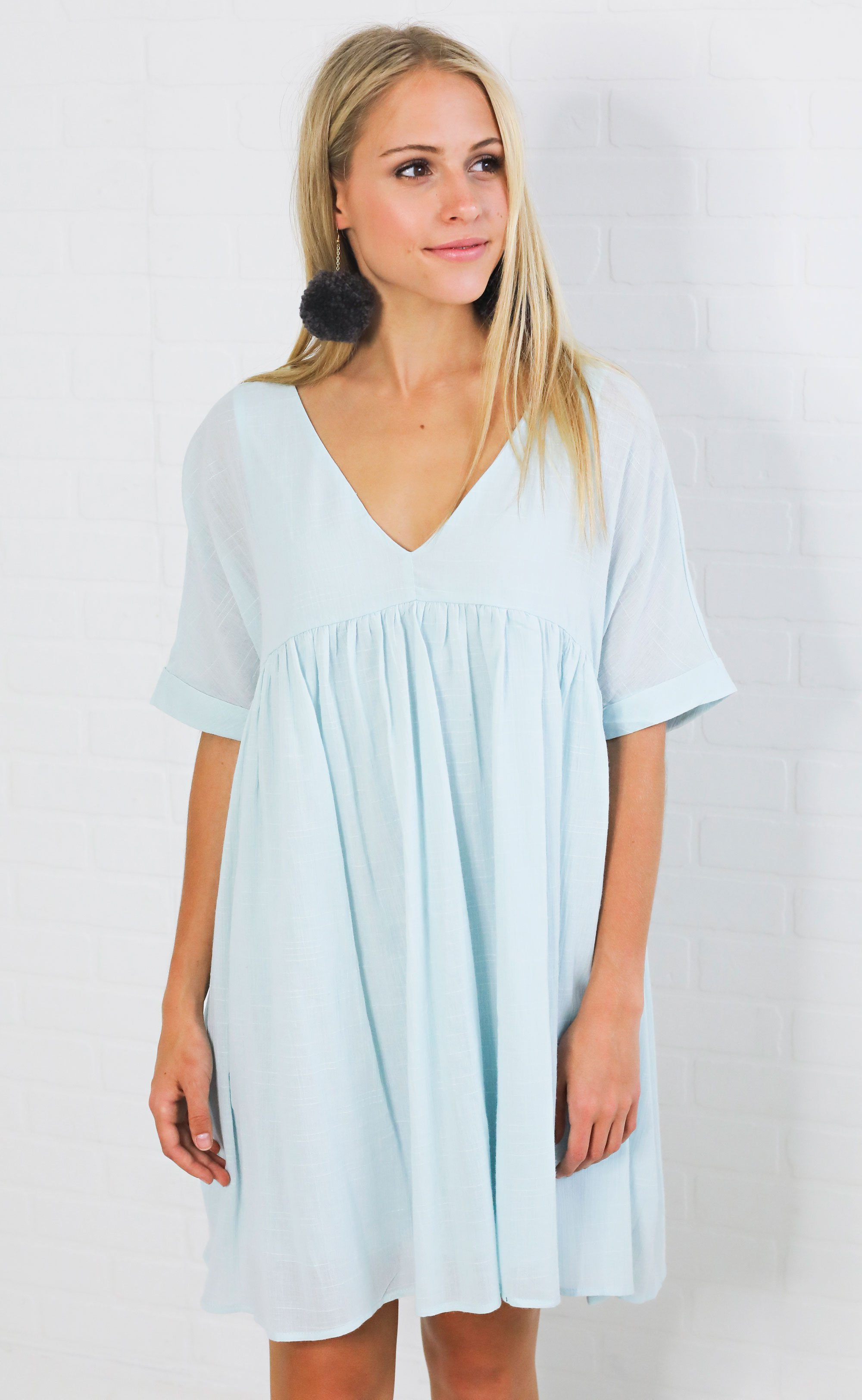 Sunkissed Babydoll Dress Blue Women Clothing Boutique Spring Outfits Blue Dresses [ 3246 x 2000 Pixel ]
