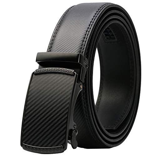 Fashion Mens Genuine Leather Belt Strap Automatic Buckle Click Rachet Belts
