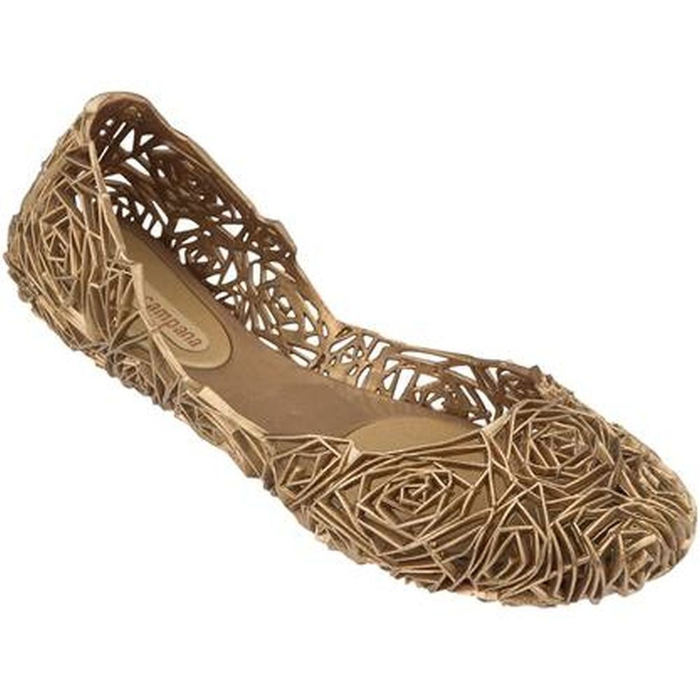 Melissa Womens Fitas II Sandal Gold Size 7. PVC upper. PVC lining. PVC sole. All Melissa shoes are infused with a signature fragrance.