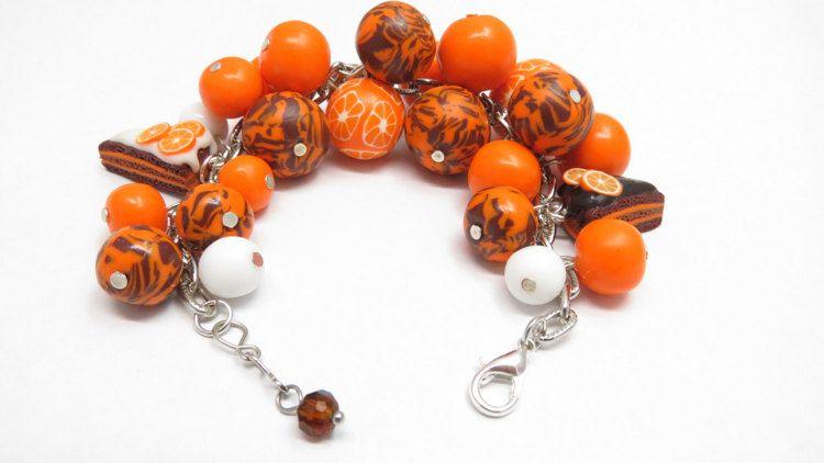 Bright Bracelet Polymer Clay Bracelet Unique от JewelryPollysWorld
