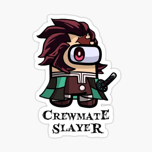 Crewmate Slayer Demon Slayer Among Us Tanjiro For Among Us Players Sticker By Bee Custom In 2021 Slayer Demon Chibi Drawings